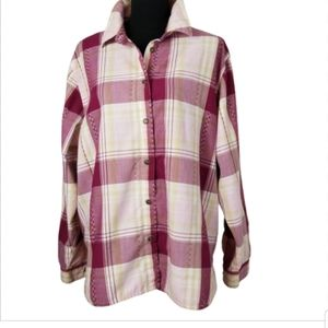Alfred Dunner plus size 20W plaid button down top